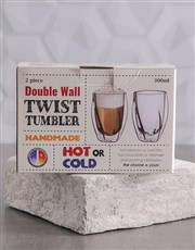 Double Wall Twist Tumbler Mug Set