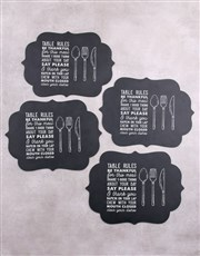 Table Rules Chalk Board Placemat