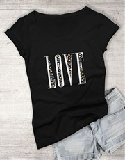 Love Floral Ladies T Shirt
