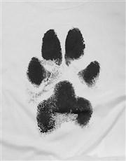 Dusty Paw Print Ladies T Shirt