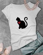 Cat Love Ladies T Shirt