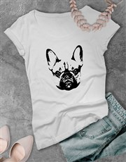 French Bulldog Graphic Print Ladies T Shirt