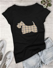 Scottish Terrier Print Ladies T Shirt