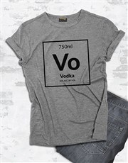 Vodka Table of Elements T Shirt