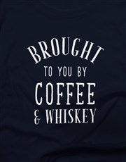 Coffee And Whiskey Ladies T Shirt