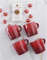 Le Creuset Cherry Mug Hamper