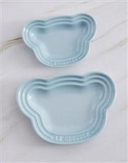 Le Creuset Blue Baby Bear Plate Set