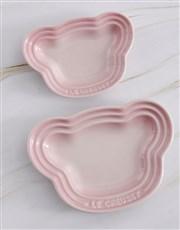 Le Creuset Pink Baby Bear Plate Set