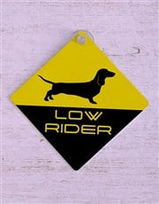 Low Rider Car Sign