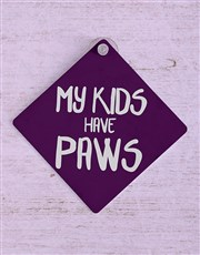 Kids Paws Car Sign