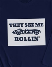 Rolling Racecar Long Sleeve T Shirt