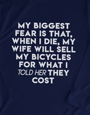 My Biggest Bicycle Fear Long Sleeve T Shirt