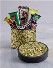 Antique Style Floral Wrap Choc Hat Box