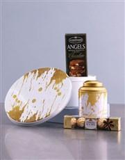 Gold Paint Tea Tin Hamper