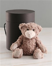 Thoughts Of You Balloon With Teddy Bear In Hat Box