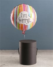 Im Sorry Balloon With Teddy Bear In Hat Box
