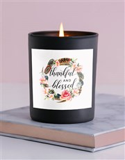 Thankful & Blessed Candle