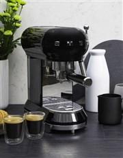SMEG Retro Espresso Coffee Machine Black