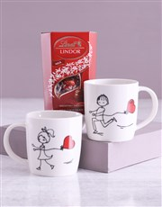 Chasing Love Mug Set With Lindt Treats