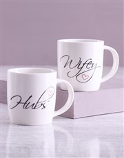 Wifey And Hubs Mug Set With Lindt Treats