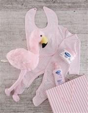 Flamingo Gift Set for Baby Girl