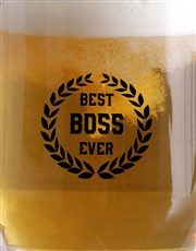Best Boss Wreath Beer Mug
