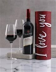I Love You Wine Tube