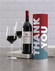 Trendy Thank You Wine Tube