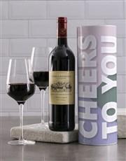 Cheers To You Modern Wine Tube