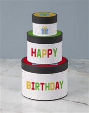 Birthday Wrap Around Chocolate Tower Box