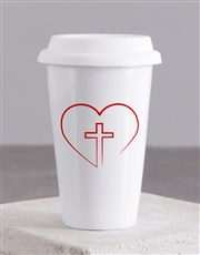 Love Jesus Travel Mug