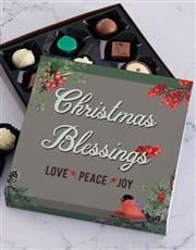 Christmas Robin Chocolate Tray