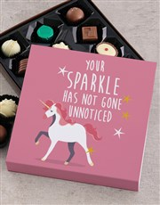 Unicorn Teddy With Chocolate Tray
