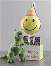 Dinosaur Teddy And Balloon Birthday Box