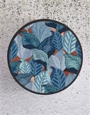 Blue Leaf Hatbox