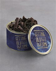 With You Biltong And Lindt Tin
