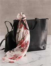 Black Bag With Mini Bag Set