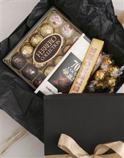 Glamorous Gold And Black Chocolate Box