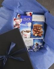 Lavish Blue And Black Chocolate Box