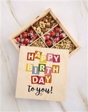 Happy Birthday To You Fruit And Nuts Treasure Box
