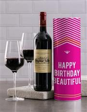 Beautiful Birthday Wine Tube
