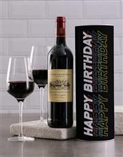 Black Birthday Wine Tube