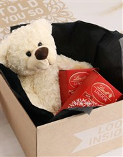Teddy Bear With Lindt Chocolate