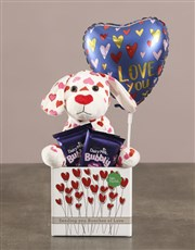 Puppy Teddy And Lindt Hamper