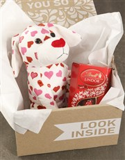 Puppy Love Teddy With Lindt Hamper