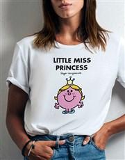 Little Miss Princess Ladies T Shirt