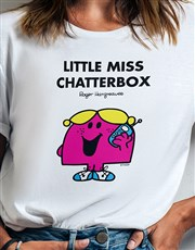 Little Miss Chatterbox Ladies T Shirt