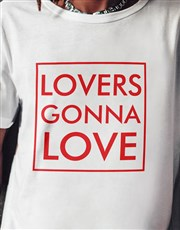 Lovers Gonna Love Ladies White Tshirt