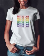 Love Is Love Ladies White Tshirt