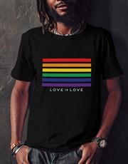 Rainbow Love White Tshirt
